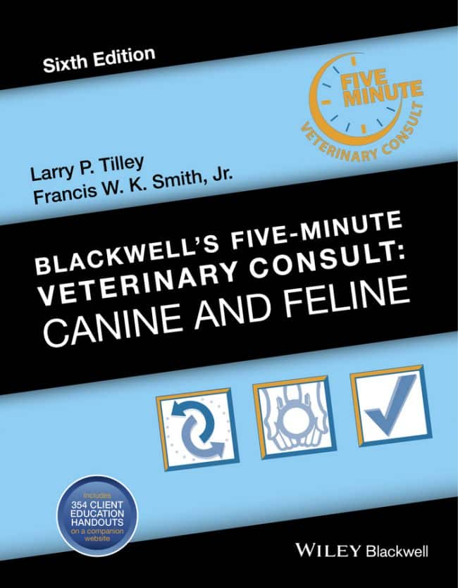 Blackwells Five Minute Veterinary Consult Canine And Feline 6th Edition PDF