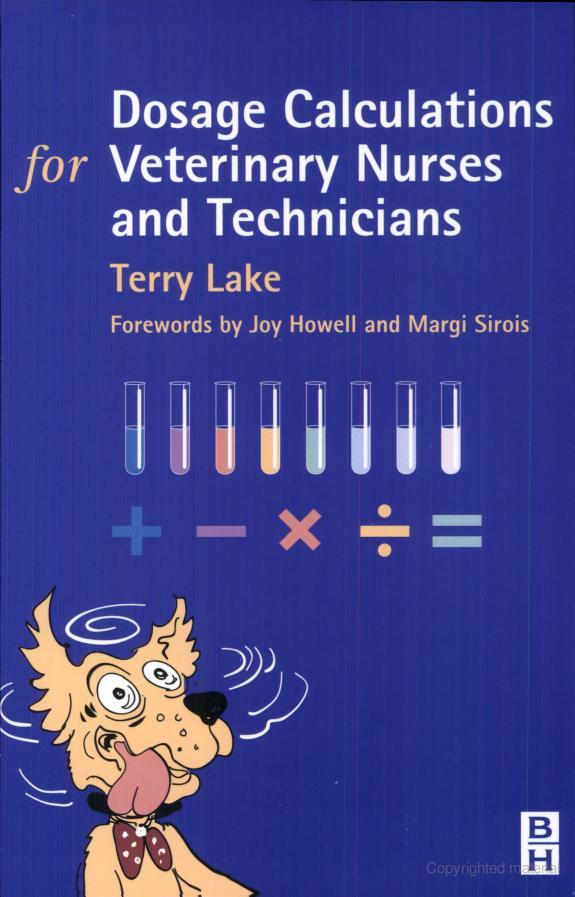 Dosage Calculations For Veterinary Nurses And Technicians PDF