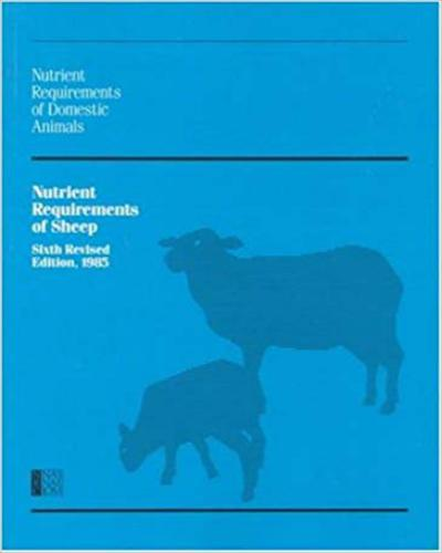 Nutrient Requirements Of Sheep